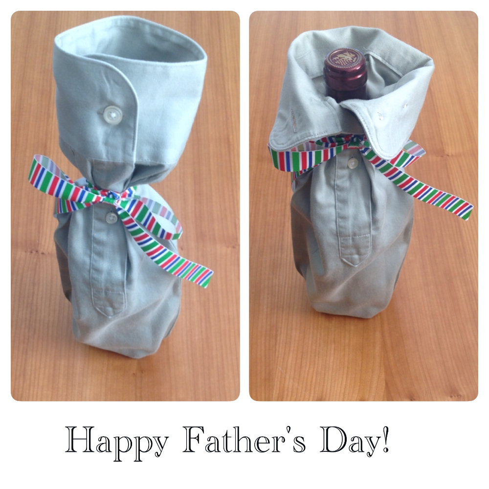 Bespoke Shirt Sleeve Wine Bottle Holder